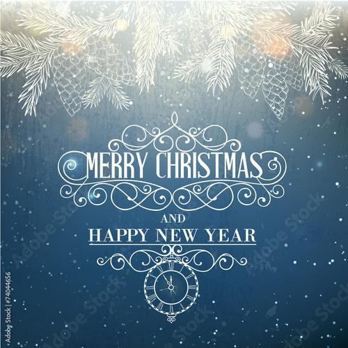 Merry christmas card. - 74044656