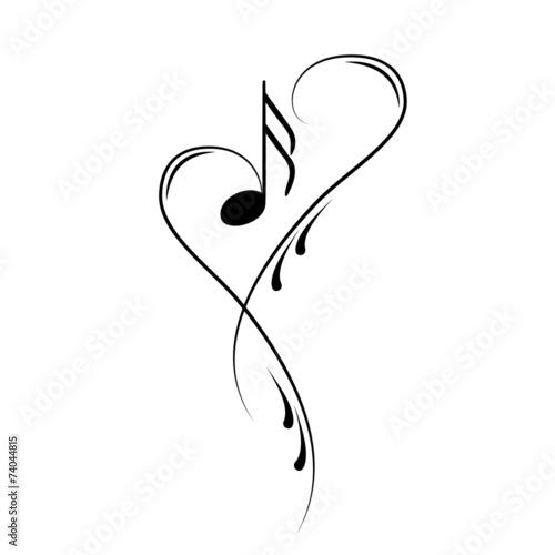 Notenschlüssel Noten Musik Vektor - 74044815