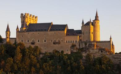 Atardecer en el Alcazar de Segovia.