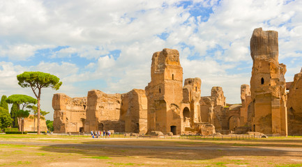 The Baths of Caracalla in Rome, Italy