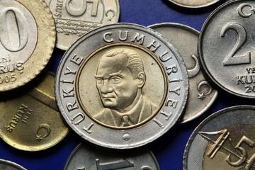 Coins of Turkey. Mustafa Kemal Ataturk