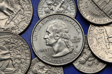 Coins of USA. George Washington