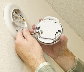 Removing Smoke Detector To Change The Battery
