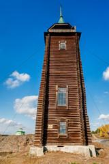 Wooden watchtower, 19th century. N.Sinyachikha