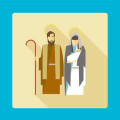 nativity scene vector icon illustration