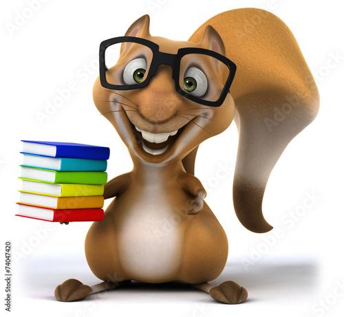 canvas print picture Fun squirrel