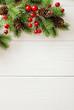 Leinwanddruck Bild - christmas frame background
