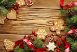 christmas frame background - 74047866