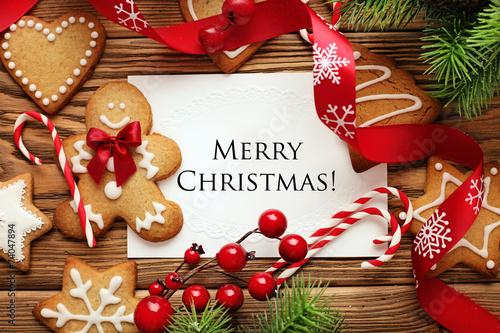 Leinwanddruck Bild christmas frame background