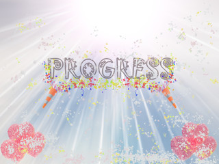 Progress Word Showing Income Earned From Business, Success,