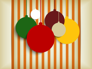 Merry Christmas Retro Colorful Hipster Background