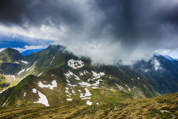 Beautiful landscape from the rocky Fagaras mountains