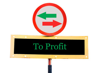 sign word to profit on white background