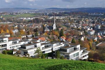 Blick auf Stadt Adliswil
