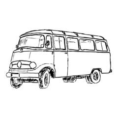 zeichnung alter bus I