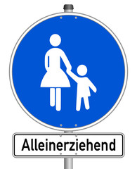 Alleinerziehend Schild  #141201-svg11