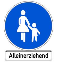 Alleinerziehend Schild #141201-svg12