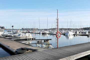 Helsinki, Finland, 28 September: berth Marina in the centre of H