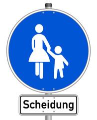 Scheidung Schild  #141201-svg13