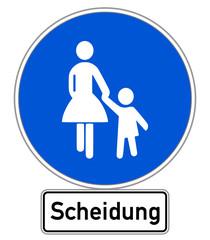 Scheidung Schild #141201-svg14