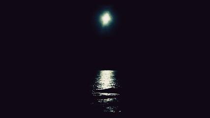 Witch night moon sea triple