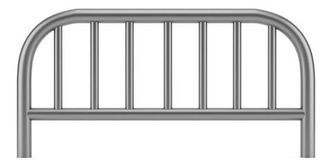 metallic sidewalk barrier isolated on white background
