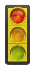 traffic light isolated on white background