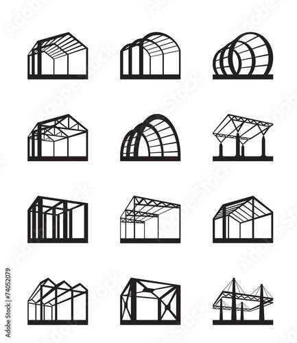 Zdjęcia na płótnie, fototapety, obrazy : Metal structures in perspective - vector illustration