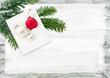 Frohe Weihnachten, Weihnachtskarte, Holz, Lackierer, Maler