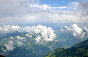 Aussicht vom Fronalpstock über das Muotathal