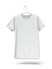 White tshirt on hanger