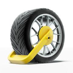 Car wheel clamp