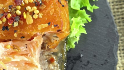Rotating Smoked Salmon (not loopable)