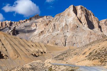 Himalayan landscape in Himalayas along Manali-Leh highway, India