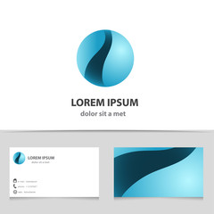 Sphere abstract vector icon design template.