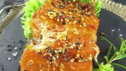 Smoked Salmon (not loopable; 4K UHD)