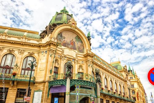 Foto op Aluminium Praag Prague Municipal House