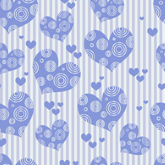 abstract seamless heart pattern background
