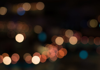 Bokeh background from christmas night party