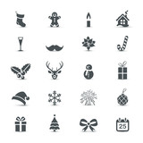 Holiday Icons set (Christmas and New Year) - 74054689