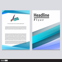 Creative vector blue acrylic flyer.