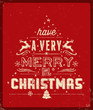 Red Typography Christmas Greeting Card