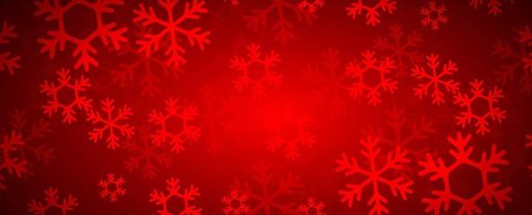 sfondo natale, fiocchi di neve, rosso