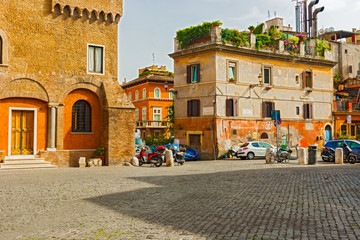 Piazza de Mercanti in Rome, Italy