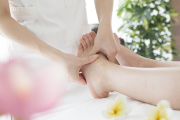 Instep of Shiatsu massage