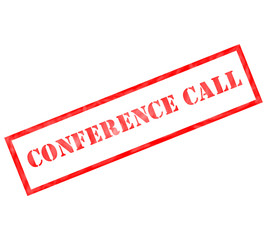 Conference Call Grunge Red Stamp