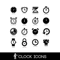 Clock Icon- Set vectors9