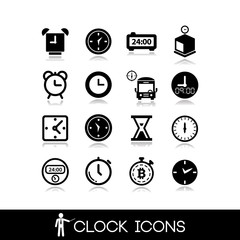 Clock Icon- Set vectors14