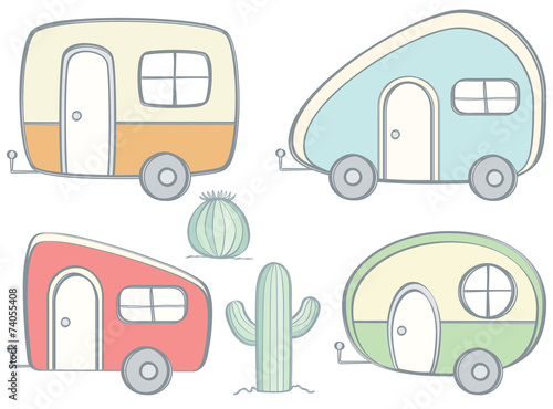 Retro Campers - 74055408
