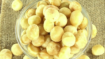 Macadamia Nuts as seamless loopable 4K UHD footage